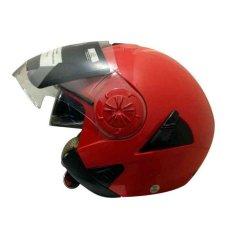 Beli Snail Helm Half Face Retro 622 Double Visor Mika Helm Panjang Merah Online Jawa Barat