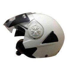 Miliki Segera Snail Helm Half Face Retro 622 Double Visor Mika Helm Panjang Putih