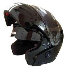 Spesifikasi Snail Helm Modular Double Visor Ff851 Hitam Putih Dan Harganya