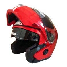 Spesifikasi Snail Helm Modular Double Visor Ff851 Merah Putih Murah Berkualitas