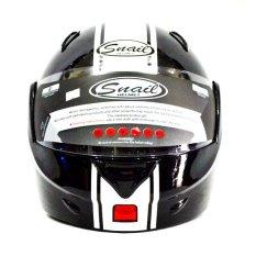 Jual Snail Helm Modular Single Visor Ff991 Hitam Putih Snail Branded