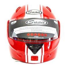 Toko Snail Helm Modular Single Visor Ff991 Merah Putih Terdekat