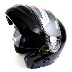 Toko Snail Helm Modular Double Visor Ff851 Hitam Di Indonesia