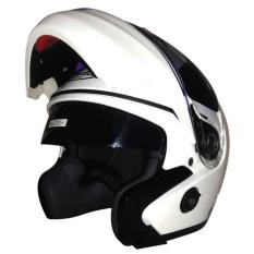 Diskon Snail Helm Modular Double Visor Ff851 Putih Snail