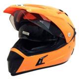 Beli Snail Helmet Motocross Double Visor Mx 311 Oranye Online Murah