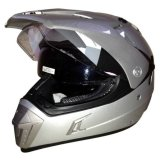 Jual Cepat Snail Helmet Motocross Double Visor Mx 311 Silver