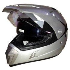 Toko Snail Helmet Motocross Double Visor Mx 311 Silver Yang Bisa Kredit