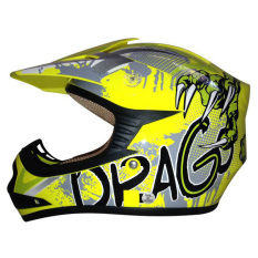 Toko Jual Snail Helmet Motocross Youth Anak Mx306 Motif Dragon Kuning Clear
