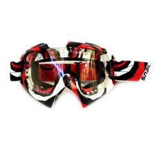 Beli Snail Kacamata Cross Goggles Mx19 Motif Garis Merah Putih Hitam Online