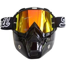 Tips Beli Snail Kacamata Cross Goggles Mx18 Full Masker Kaca Pelangi Hitam Kilap Yang Bagus