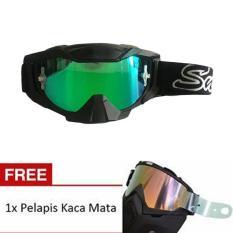 Toko Snail Kacamata Cross Goggles Mx36 Kaca Revo Hijau Dengan Pelapis Kaca Anti Gores Hitam Termurah