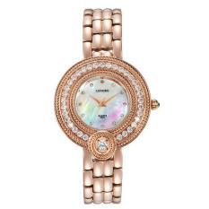 SOBUY AliExpress Ledakan Eropa Luminous QUARTZ Watch Tahan Air Fashion Diamond Ladies Watch dengan Baja Rose 6023 (Rose GoldGold)