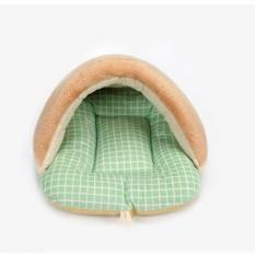 Lembut Breed Dog Bed Kennel Mat Sofa Rumah Pet Kucing Anjing Bed House Cuci Plush Cozy Nest Dog Selimut Bantal L (52*40*32 Cm) Hijau-Intl