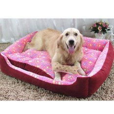 Lembut Breed Dog Bed Kennel Mat Sofa Rumah Pet Kucing Anjing Bed House Cuci Plush Cozy Nest Dog Selimut Bantal (Xs-pink) 50X40X15 Cm-Intl