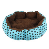 Promo Soft Fleece Pet Dog Puppy Cat Tempat Tidur Hangat Rumah Plush Cozy Nest Mat Pad Blue Intl