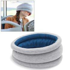 Toko Soft Ostrich Travel Office Nap Pillows Car Rest Pillows Headrest Sleeping Helper Blue Intl Lengkap