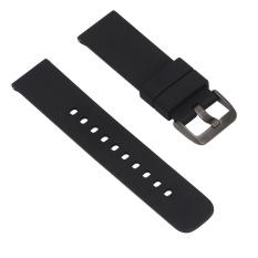 Soft Replacement Sport Watch Wrist Band Strap untuk Samsung R380/R381/R382 Watch Pebble Waktu LG MOTO360 2rd Generasi Hitam-Intl