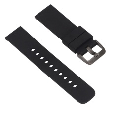 Soft Replacement Sport Watch Wrist Band Strap untuk Samsung R380/R381/R382 Watch Pebble Waktu LG MOTO360 2rd Generasi Hitam-Intl