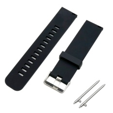 Harga Soft Silicone Solid Color Adjustable Replacement Watchband Quick Release Needle Buckle Watch Band Metal Clasp Wrist Band Strap For 20Mm Men Women Watch Accessary Black Intl Yang Murah