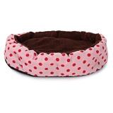 Beli Lembut Bisa Dicuci Polka Dot Tempat Tidur Kucing Anjing Peliharaan Rumah Bantalan Kandang Dengan Removable Cushion Intl Terbaru