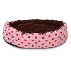 Spesifikasi Lembut Bisa Dicuci Polka Dot Tempat Tidur Kucing Anjing Peliharaan Rumah Bantalan Kandang Dengan Removable Cushion Intl Paling Bagus