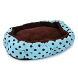 Spesifikasi Lembut Bisa Dicuci Polka Dot Tempat Tidur Kucing Anjing Peliharaan Rumah Bantalan Kandang Dengan Removable Cushion Intl Merk Not Specified