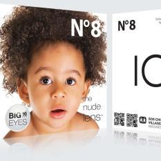 softlens ice nude N8 black (normal) + FREE aquas 60ml