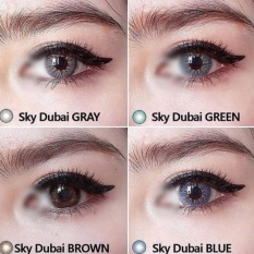 Softlens Sky Dubai Brown (normal) + Free Aquas 60ml By Grosirsoftlensku.