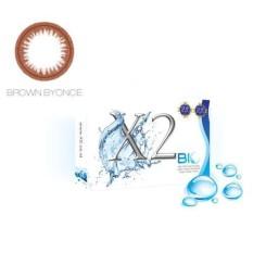 Softlens X2 Bio Untuk Mata Sensitif BROWN BYONCE MINUS -0,75