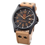 Beli Soki Sport Militer Watches Fashion Kasual Quartz Pria Watch Leather Analog Mewah Jam Tangan Coklat Muda Intl Terbaru