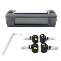 Listrik Tenaga Surya Mobil Ban TPMS Temp + Tekanan Monitor Alarm System-Intl