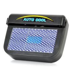 Solar Powered Car Auto Ventilasi Udara Dingin Kipas Pendingin-Hitam-Internasional