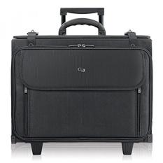 Solo Morgan 17.3 Inch Rolling Laptop Katalog Case dengan Hanging File System, Hitam-Intl