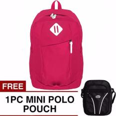Sonic Laptop Backpack + FREE Mini PoloClub Pouch Selempang