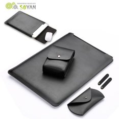 Soyan Kulit Lengan With Mouse Pad Power Supply Casing Mouse Cover Gelendong Winder For Mac Buku Pro 13 Inch 2016 Hitam Murah