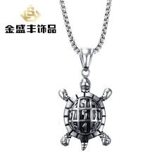 Khusus untuk Perhiasan 36 Mm Titanium Steel Kura-kura Liontin Steel Warna Perhiasan Kreatif Pria