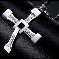 Dapatkan Segera Kecepatan Dan Gairah Kalung Dengan Cross Pendant Domineering Pria Perhiasan Hadiah Intl