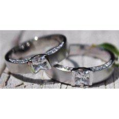 spesial cincin couple emas putih 12k AuAg