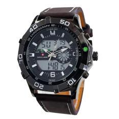 Spesifikasi Swiss Army Mens - Jam Tangan Pria - Strap Kulit - Dual Time - Cokelat - SA4422
