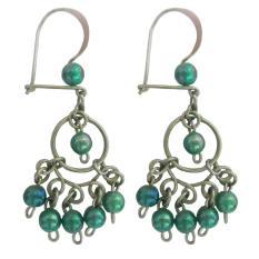 Spicegift Anting-Anting Baja Putih (Stainless Steel) Dreamcatcher Beads Hijau