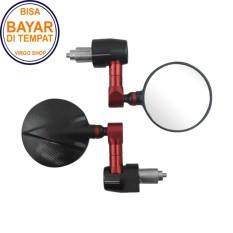 Promo Spion Jalu Unuk Motor Universal Kaca Bulat Kaca Kebiruan Merah Murah