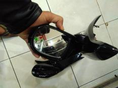 Spion Lipat + LED Yamaha N Max Bahan Plastik Kaca Cembung Merk MHR