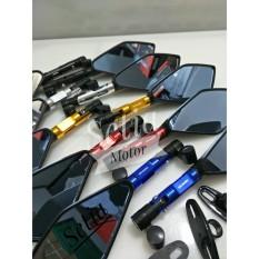 Spion Tomok V-5 Variasi Motor Aerox - Nmax - Ninja - R RR - Cbr 150 250 - R25 R15 Mt25 - Mio - Vario - Gsx - Xabre - Pcx - Klx - Er6 - Kaca Besar