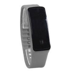 Olahraga LED Tali Pengikat Karet Silikon Layar Sentuh Jam Tangan Gelang Digital (Abu-abu)