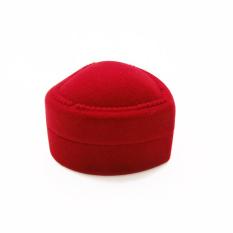 Sporter Trendi Jantung Berbentuk Kotak Cincin Red Love Heart Kotak Penyimpanan Kotak Perhiasan 10 Pcs Merah