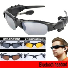 Olahraga Stereo Nirkabel Bluetooth 4.1 Headset Telepon Terpolarisasi Mengemudi Sunglasses/MP3 Riding Mata Kacamata (abu-abu)-Intl