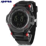 Beli Spovan Mingo 2 Digital Olahraga Watch Kompas Pedometer Altimeter Alarm 3Atm Jam Tangan Hitam Intl Cicilan