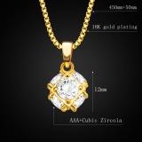 Lapangan Bola Kristal Liontin Perhiasan 18 Karat Berlapis Emas Putih Tiruan Diamond Liontin P30133 Original