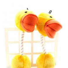 Beli Umpama Anjing Mewah Mainan Lolipop Mainan Mainan Cleanning Simpul Mengunyah Gigi Kuning Bebek Di Tiongkok