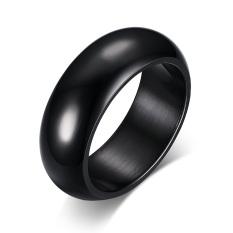 Stainless Baja 7Mm Hitam Tinggi Dipol Klasik Wedding Band Perhiasan Cincin Pertunangan Cincin For Pria And Wanita Internasional Oem Diskon 40